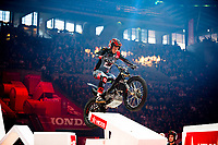 2nd February 2020; Palau Sant Jordi, Barcelona, Catalonia, Spain; X Trial Mountain Biking Championships; Gabriel Marcelli (Spain) of the Montesa Team in action during the X Trial indoor Barcelona
