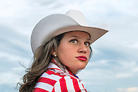 Miss Rodeo Colorado 2016 contestant Alex Hyland during at the Miss Rodeo Queen Colorado competition at the Greely Stampede in Greely, Colorado, July 1, 2015.<br /> <br /> Photo by Matt Nager