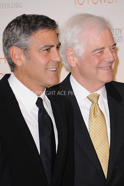 WWW.ACEPIXS.COM . . . . . .November 17, 2010...New York City... George Clooney and his father Nick Clooney attend the Robert F. Kennedy Center for Justice & Human Rights Ripple of Hope awards dinner at Chelsea Piers on November 17, 2010 in New York City....Please byline: KRISTIN CALLAHAN - ACEPIXS.COM.. . .Ace Pictures, Inc: ..tel: (212) 243 8787 or (646) 769 0430..e-mail: info@acepixs.com..web: http://www.acepixs.com .