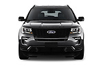 Car photography straight front view of a 2019 Ford Explorer Sport 5 Door SUV