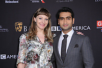 06 January 2018 - Beverly Hills, California - Emily V. Gordon and Kumail Nanjiani. 2018 BAFTA Tea Party held at The Four Seasons Los Angeles at Beverly Hills in Beverly Hills.    <br /> CAP/ADM/BT<br /> &copy;BT/ADM/Capital Pictures