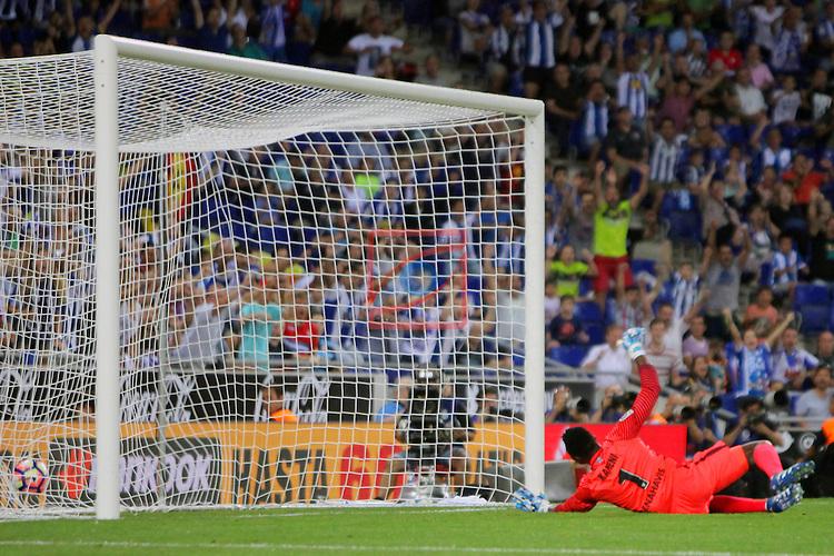 League Santander 2016/2017. Game: 2.<br /> RCD Espanyol vs Malaga CF: 2-2.<br /> 1-0: Gerard Moreno.