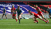 June 4th 2017, AJ Bell Stadium, Salford, Greater Manchester, England;  Rugby Super League Salford Red Devils versus Wakefield Trinity;  James Batchelor of Wakefield Trinity runs through to score the winning try
