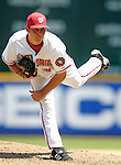 7 June 2007: Washington Nationals pitcher Matt Chico in action against the Pittsburgh Pirates at RFK Stadium in Washington, DC. The Pirates defeated the Nationals 3-2 in the third game of their 3-game series...Mandatory Credit: Ed Wolfstein Photo