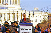 "Governor Tom Kean (Republican of New Jersey) makes remarks at the ""Campaign to the Summit"", a march on Washington, D.C. supporting freedom for Jews living in the Soviet Union, on Sunday, December 6, 1987. 200,000 people marched to focus attention on the repression of Soviet Jewry, was scheduled a day before United States President Ronald Reagan and Soviet President Mikhail Gorbachev began a 2 day summit in Washington where they signed the Intermediate Range Nuclear Forces (INF) Treaty.<br /> Credit: Ron Sachs / CNP"