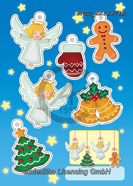 Alfredo, CHRISTMAS CHILDREN, WEIHNACHTEN KINDER, NAVIDAD NIÑOS,angels,sticker,stickers,gingwebread, paintings+++++,BRTOXX13374A,#xk#