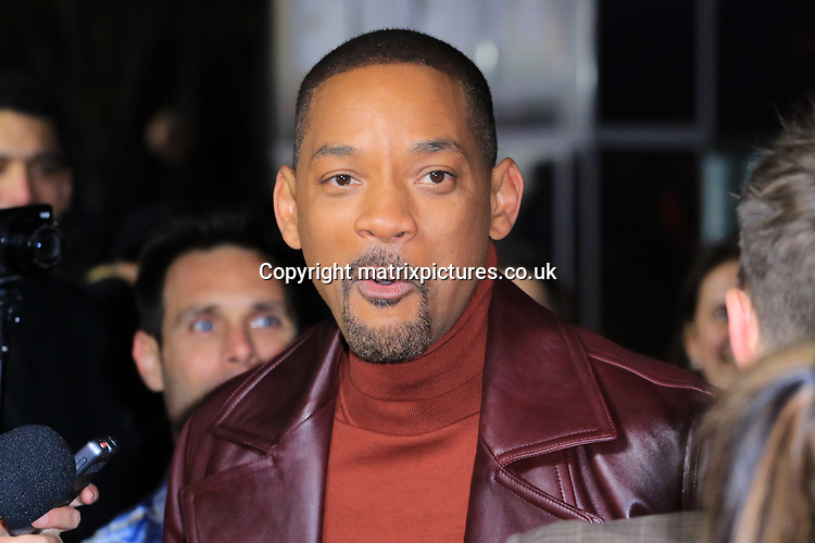 NON EXCLUSIVE PICTURE: MATRIXPICTURES.CO.UK<br /> PLEASE CREDIT ALL USES<br /> <br /> WORLD RIGHTS<br /> <br /> American actor Will Smith attends the UK premiere of Bright at BFI Southbank in London.<br /> <br /> DECEMBER 15th 2017<br /> <br /> REF: MES 172875