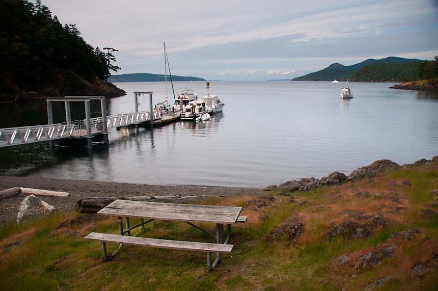 Dock, Jones Island, San Juan Islands, Washington, US