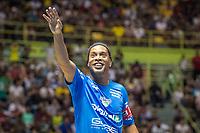 SÃO PAULO, SP, 09.12.2018 – LEGENDS GAME – Ronaldinho Gaúcho, durante partida  Legens game, disputada no Ginásio do Ibirapuera em São Paulo, neste domingo, 09. (Foto: Danilo Fernandes/Brazil Photo Press)