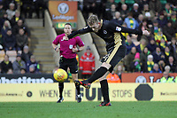 George Saville of Millwall takes a shot at goal during Norwich City vs Millwall, Sky Bet EFL Championship Football at Carrow Road on 1st January 2018