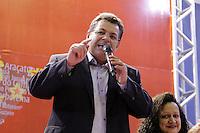 SAO PAULO, SP, 22.05.2015 - LULA-SP -  O presidente do PT em São Paulo, Emidio de Souza, durante a abertura da etapa estadual de São Paulo do 5º Congresso do Partido dos Trabalhadores na quadra dos Bancários, na região central de São Paulo, SP, nesta sexta-feira, 22. (Foto: Fernando Neves/ Brazil Photo Press)