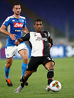 Juventus' Douglas Costa in action during the Italian Cup football final match between Napoli and Juventus at Rome's Olympic stadium, June 17, 2020. Napoli won 4-2 at the end of a penalty shootout following a scoreless draw.<br /> UPDATE IMAGES PRESS/Isabella Bonotto