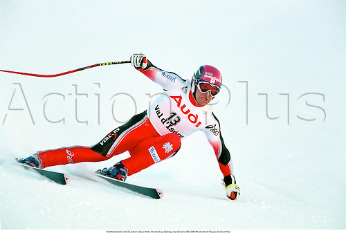 HANS KNAUSS (AUT), Men's Downhill, World Cup Skiing, Val D'Isere 001209 Photo:Neil Tingle/Action Plus...2000.winter sport.winter sports.wintersport.wintersports.alpine.ski.skier.man