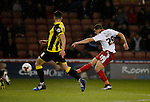 Che Adams of Sheffield Utd gets a shot on goal - English League One - Sheffield Utd vs Burton Albion - Bramall Lane Stadium - Sheffield - England - 1st March 2016 - Pic Simon Bellis/Sportimage