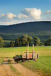 Nippenose Valley, PA. Hay wagons in Stotzfus field.