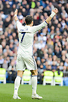 Real Madrid's Cristiano Ronaldo during La Liga match between Real Madrid and Malaga CF at Santiago Bernabeu Stadium in Madrid, Spain. January 21, 2017. (ALTERPHOTOS/BorjaB.Hojas)