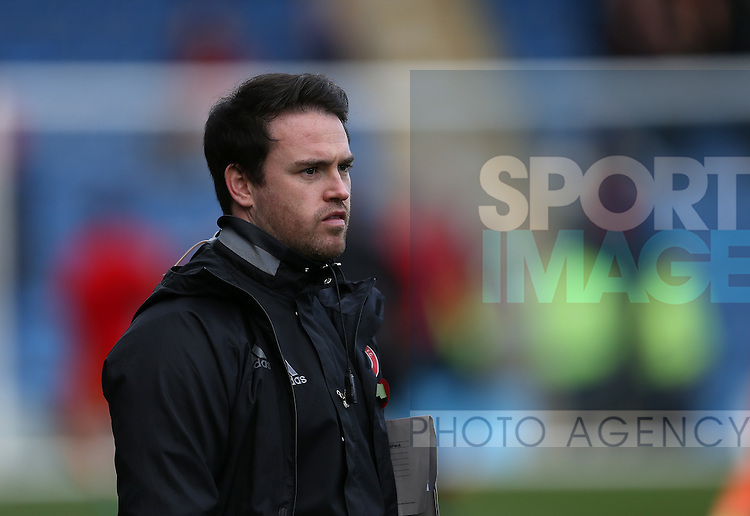 Performance Analyst Mike Allen of Sheffield Utd during the English League One match at the Proact Stadium, Chesterfield. Picture date: November 13th, 2016. Pic Simon Bellis/Sportimage