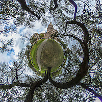 Texas State Capital, Austin, TX, little planet 360 degree view.  (Photo by Brian Cleary/ www.bcpix.com )