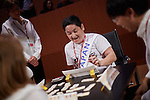 9.11.2015, Berlin. Axica Congress Centrum. Finals of the Rummikub World Champiionships 2015. The game was invented by Ephraim Hertzano in the early 1930s and is still distributed by the Hertzano Family, namely Micha Hertzano and his daughter. They also initiate the World Championships