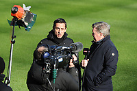 Former Manchester United defender and now Sky Sports Pundit Gary Neville and Geoff Shrives during Newcastle United vs Manchester United, Premier League Football at St. James' Park on 11th February 2018
