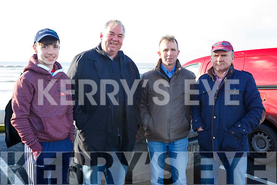 Danny Hartnett (Abbeyfeale), Raymond Sugrue (Farmers Bridge, Tralee), William Slattery (Tralee) and Mike Brosnan (Moyvane) attending the Ballyheigue Races on Wednesday last.