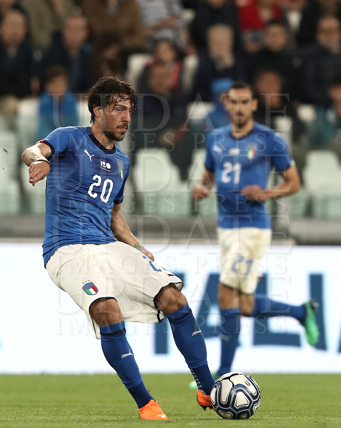 International friendly football match Italy vs The Netherlands, Allianz Stadium, Turin, Italy, June 4, 2018. <br /> Italy's Simone Verdi in action during the international friendly football match between Italy and The Netherlands at the Allianz Stadium in Turin on June 4, 2018.<br /> UPDATE IMAGES PRESS/Isabella Bonotto