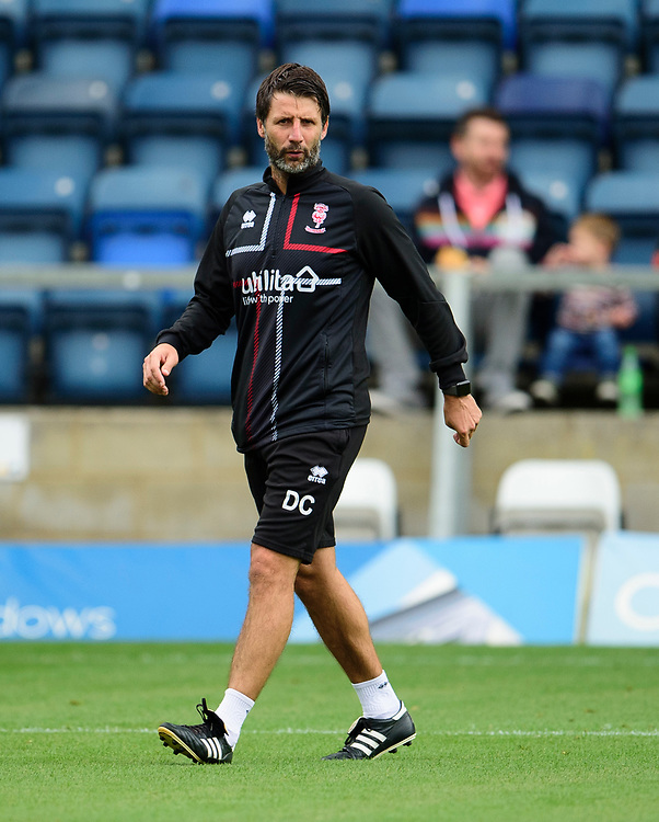 Lincoln City manager Danny Cowley during the pre-match warm-up<br /> <br /> Photographer Andrew Vaughan/CameraSport<br /> <br /> The EFL Sky Bet League One - Wycombe Wanderers v Lincoln City - Saturday 7th September 2019 - Adams Park - Wycombe<br /> <br /> World Copyright © 2019 CameraSport. All rights reserved. 43 Linden Ave. Countesthorpe. Leicester. England. LE8 5PG - Tel: +44 (0) 116 277 4147 - admin@camerasport.com - www.camerasport.com