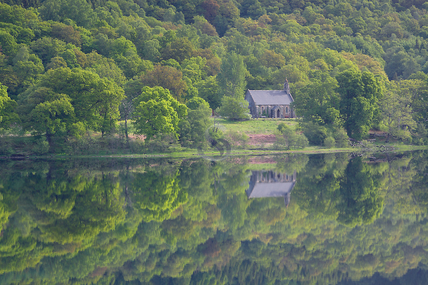 Loch Achray and Loch Achray Church, Loch Lomond and The Trossachs National Park<br /> <br /> Copyright www.scottishhorizons.co.uk/Keith Fergus 2011 All Rights Reserved