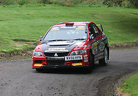 Donnie MacDonald / Andrew Falconer near Junction 10 on the Gleaner Oil & Gas Cooper Park Special Stage 2 of the Gleaner Oil & Gas Speyside Stages Rally 2012, Round 6 of the RAC MSA Scotish Rally Championship which was organised by The 63 Car Club (Elgin) Ltd and based in Elgin on 4.8.12.........