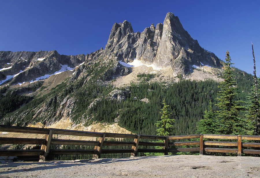 Liberty Bell Mountain and Washington Pass Overlook, North Cascades, Washington