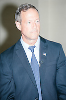 Democratic presidential candidate and former governor of Maryland Martin O'Malley speaks at a small town hall event at McLane law firm in Manchester, New Hampshire. The firm holds a town hall series, inviting candidates to speak at their headquarters.