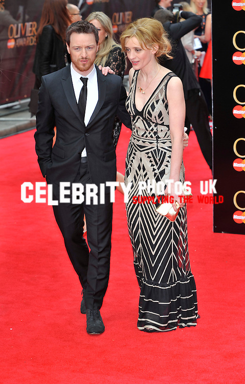 James McAvoy; Anne-Marie Duff attends The Laurence Olivier Awards at the Royal Opera House on April 28, 2013 in London Picture By: Brian Jordan / Retna Pictures.. ..-..
