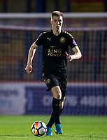 Josh Knight of Leicester City U23 during the Under 23 Premier League 2 match between Chelsea U23 and Leicester City U23 at the Electrical Services Stadium, Aldershot, England on 2 February 2018. Photo by Andy Rowland / PRiME Media Images.