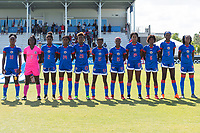 Bradenton, FL - Sunday, June 12, 2018: Haiti Starting XI prior to a U-17 Women's Championship 3rd place match between Canada and Haiti at IMG Academy. Canada defeated Haiti 2-1.