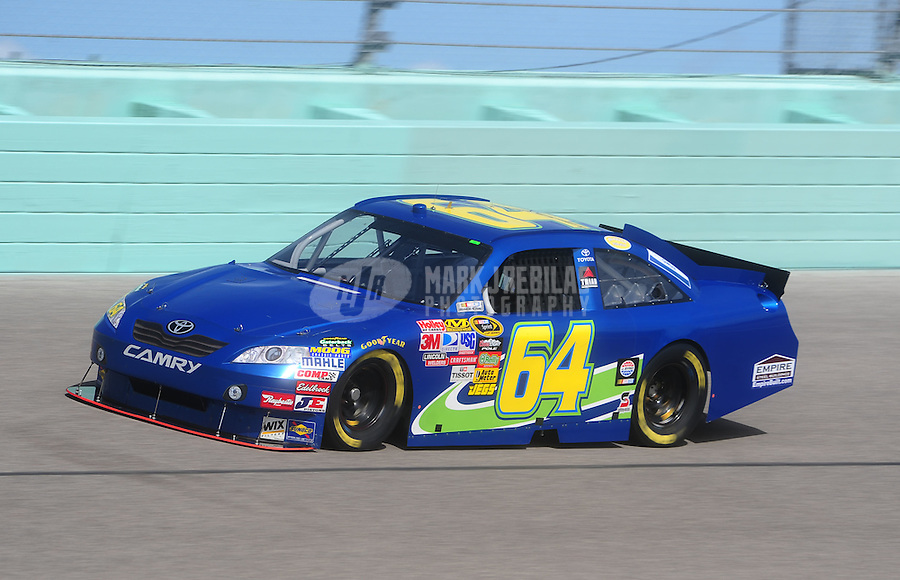 Nov. 19, 2010; Homestead, FL, USA; NASCAR Sprint Cup Series driver Landon Cassill during practice for the Ford 400 at Homestead Miami Speedway. Mandatory Credit: Mark J. Rebilas-