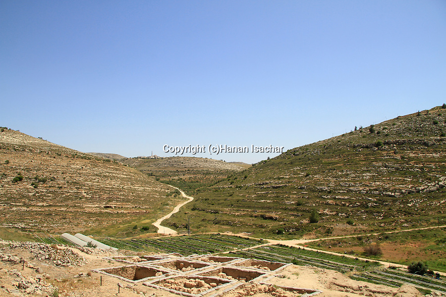 Samaria, a view Northeast from Tel Shiloh