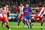 League Santander 2017/2018. Game: 25.<br /> FC Barcelona vs Girona FC: 6-1.<br /> Antony Lozano vs Sergio Busquets.
