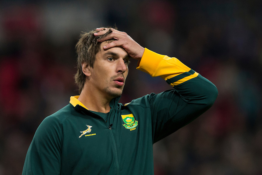 Eben Etzebeth of South Africa  Photographer Craig Mercer/CameraSport<br /> <br /> International Rugby Union Friendly - Barbarians v South Africa - Saturday 5th November 2016 - Wembley Stadium - London<br /> <br /> World Copyright &copy; 2016 CameraSport. All rights reserved. 43 Linden Ave. Countesthorpe. Leicester. England. LE8 5PG - Tel: +44 (0) 116 277 4147 - admin@camerasport.com - www.camerasport.com