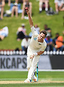 3rd December 2017, Wellington, New Zealand;  Matt Henry bowling.<br /> Day 3. New Zealand Black Caps v West Indies. 1st test match of the ANZ International Cricket Season 2017/18 season. Basin Reserve, Wellington,