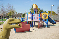 Playground Equipment at Smith Park on Broadway in San Gabriel California