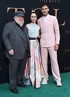 "08 May 2019 - Westwood, California - George R. R. Martin, Lily Collins, Nicholas Hoult. ""Tolkien"" Los Angeles Special Screening held at Regency Westwood Village Theater. Photo Credit: Birdie Thompson/AdMedia"