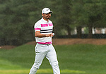 CROMWELL, CT. 21 June 2019-062119 - PGA Tour player Jason Day acknowledges the fans, during the second round of the Travelers Championship at the TPC River Highlands in Cromwell on Thursday. Bill Shettle Republican-American