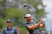 Dustin Johnson (USA) tees off on the 8th hole during the second round of the 118th U.S. Open Championship at Shinnecock Hills Golf Club in Southampton, NY, USA. 15th June 2018.<br /> Picture: Golffile | Brian Spurlock<br /> <br /> <br /> All photo usage must carry mandatory copyright credit (&copy; Golffile | Brian Spurlock)