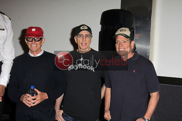 """Jim Abrahams, Jerry Zucker, David Zucker<br /> at a reunion of """"Airplane"""" original castmembers and directors to film spots for the Wisconsin Department of Tourism, Air Hollywood, Pacoima, CA 09-19-13<br /> David Edwards/Dailyceleb.com 818-249-4998"""