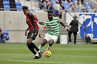 16th July 2020; Nice, France; Veolia Trohy Football friendly, OGC Nice versus Celtic FC;   Odsonne Edouard celtic comes forward on the ball