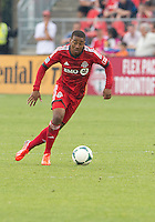 July 20, 2013: Toronto FC midfielder Reggie Lambe #19 in action during a game between Toronto FC and the Columbus Crew at BMO Field in Toronto, Ontario Canada.<br /> Toronto FC won 2-1.