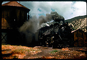 #480 K-36 with excursion train at tank possibly in Durango.<br /> D&amp;RGW  Durango ?, CO