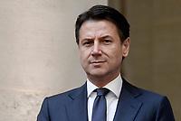 Roma, 4 Luglio 2019<br /> Palazzo Chigi.<br /> Il Presidente del Consiglio Giuseppe Conte durante l' Incontro con il Presidente della Federazione Russa.