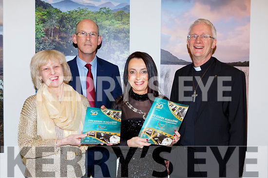 Patricia O'Hare, John Breen, Marie O'Sullivan Editor and Bishop Ray Browne at the launch of the Kerry Magazine in Killarney House on Friday