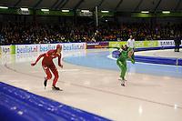 SCHAATSEN: HEERENVEEN: 28-12-2013, IJsstadion Thialf, KNSB Kwalificatie Toernooi (KKT), 500m, Margot Boer, Annette Gerritsen, ©foto Martin de Jong